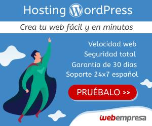 Webempresa Hosting web